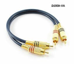 1ft 2-RCA to 2-RCA Gold-Plated Male to Male DJ/Mixer/Stereo
