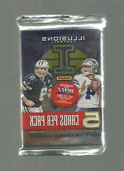2017 Panini Illusions FB HOBBY sealed Pack 5 Cards Look 4 MA