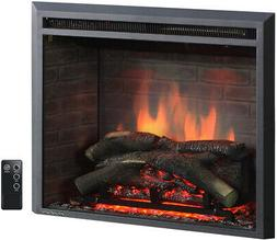 A 26 to 33 Inch Western Electric Fireplace Insert With Remot