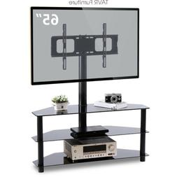Corner Floor TV Stand with Swivel Mount for 32-65 inch LED L