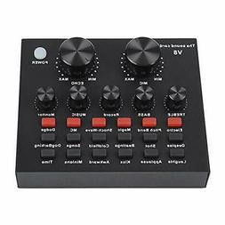 ASHATA External Mixing Console Sound Card Mixing Console Dig