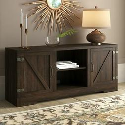 "Hilo 58 Inch Barn Door TV Stand Console For TVs Up To 65"", S"