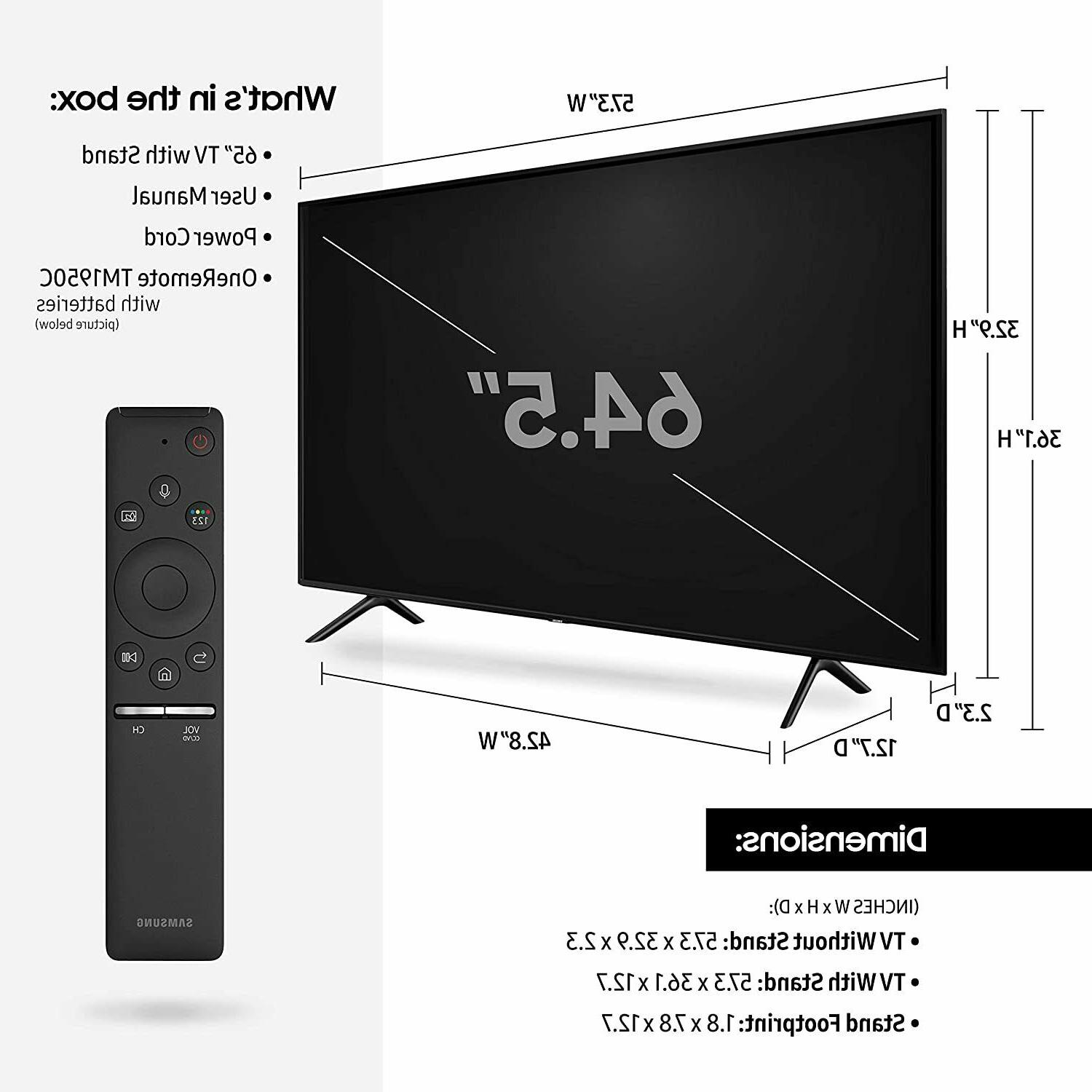 Samsung 65-inch UHD Q60 with HDR and 2019