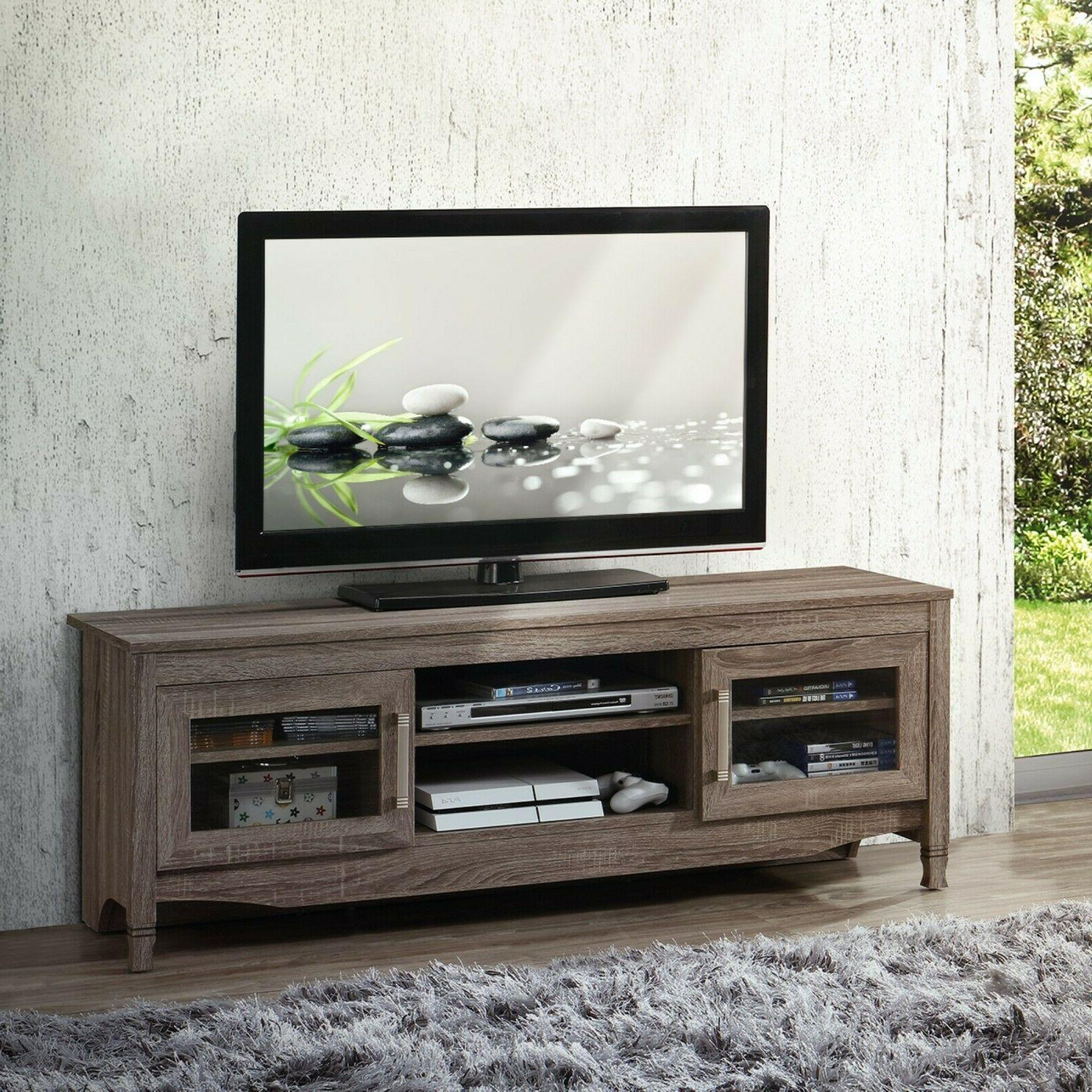 grey driftwood tv stand