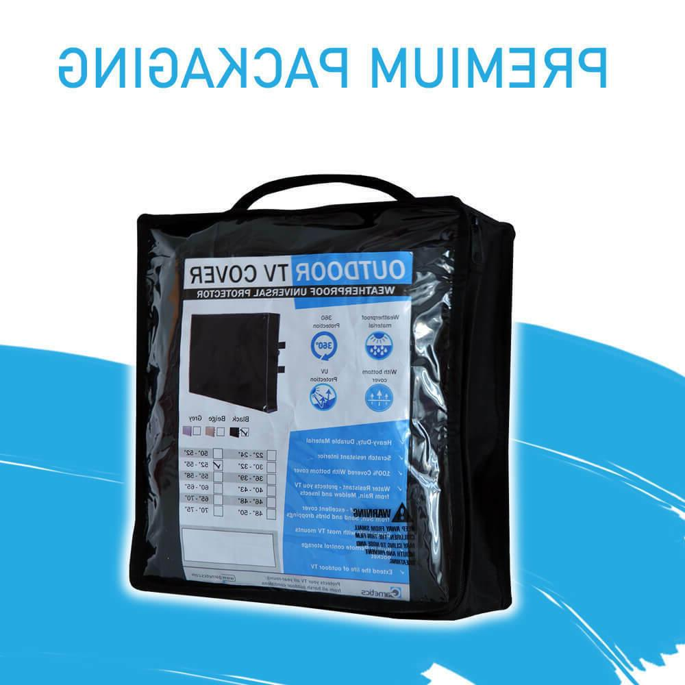 Outdoor TV Cover 60 inch flat Screen Weatherproof 360 protection