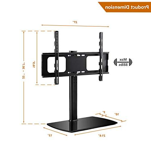 Rfiver Universal Swivel Tabletop TV with for 32 37 42 47 50 60 inch and TVs Height VESA 600x400mm,