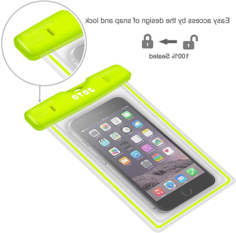 Universal Waterproof Case, Joto Cell Phone For Apple Iphone 6S 6,6S