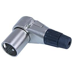 Right Angle XLR 3 Pin Connector Male Adapter Audio Video Acc