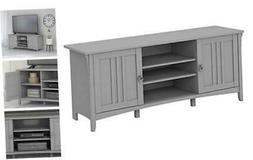 Salinas Stand for 65 Inch TV, 60W, Cape Cod Gray