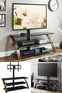 Swivel Mounting 3 In 1 Flat 65 Inches Panel TV Stand Shelves