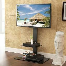 "TV Stand Glass Shelf for 32""-65"" Inch TVs with Swivel Sharp"